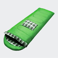 Camping sleeping bags outdoors in spring and summer